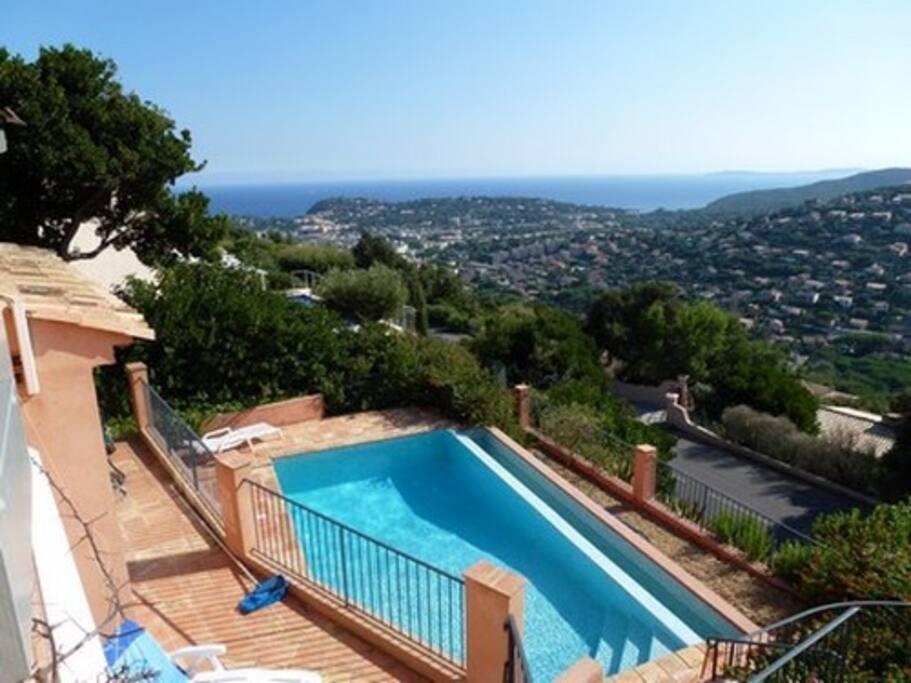 Vue panoramique de la villa