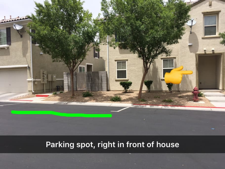 More parking in front of house if that one is taken.