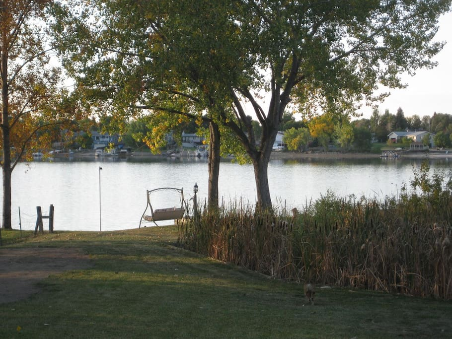 Sit and take in the lake