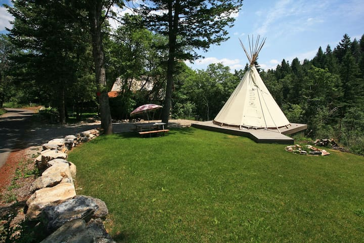 Ridge Top- Charming Cottage, Hot Tub, Fireplace, Furnished Tipi