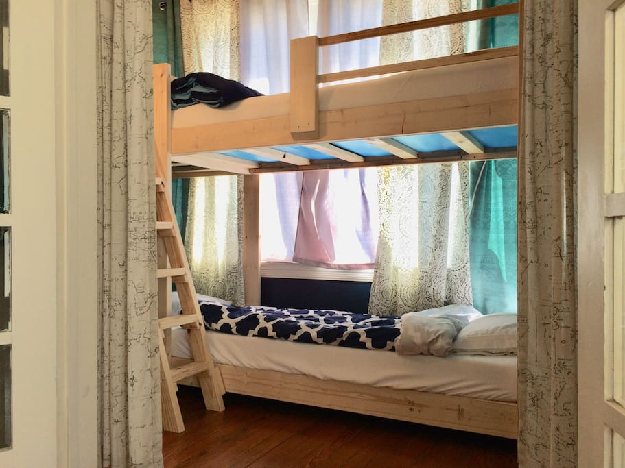 Your bed is the upper/top bunk shown in this photo