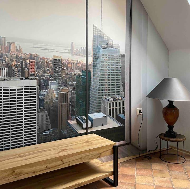 Pokoj s výhledem na New York Sweethome Brno