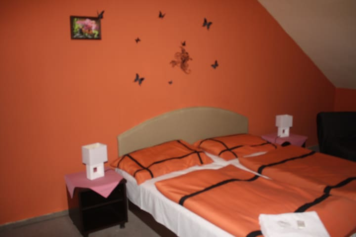 Dvoulůžkový pokoj v hotelu Zlatý kříž v Kaplici