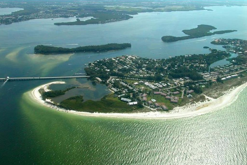 North End of Longboat Key, Gulf of Mexico  & Sarasota Bay