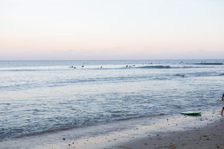 Surfers at the famous Surfrider beach
