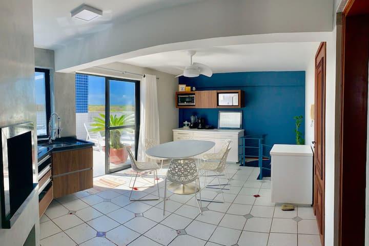 Charmosa Cobertura Duplex Vista Mar e Serra