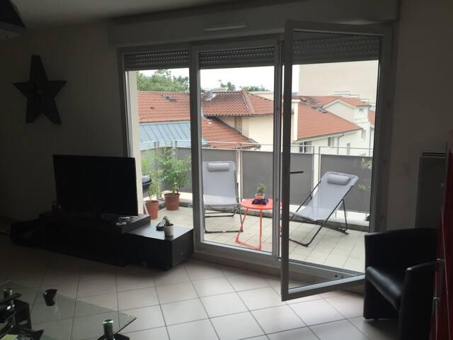 appartement à 10min de Lyon centre - Villeurbanne - Apartamento