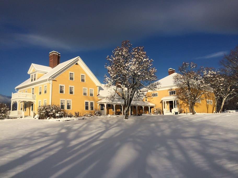 Merrill House, winter