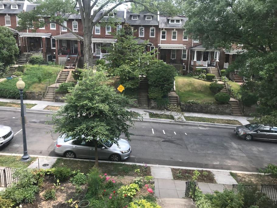 Great street parking!