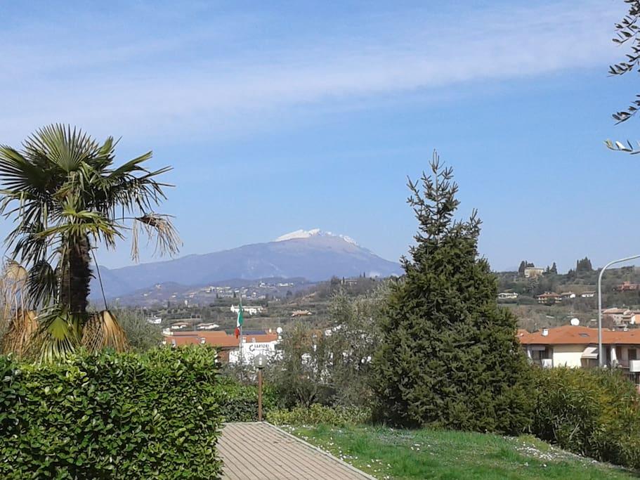 Giardino con vista sul Monte Baldo