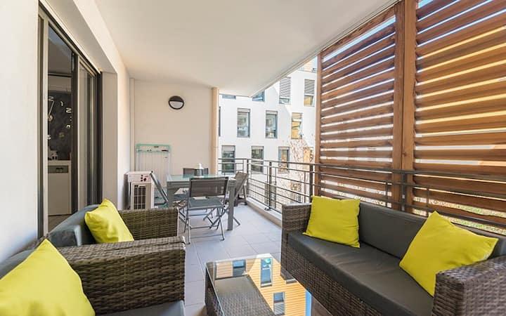 Appartement 2 à 4 personnes + terrasse + parking