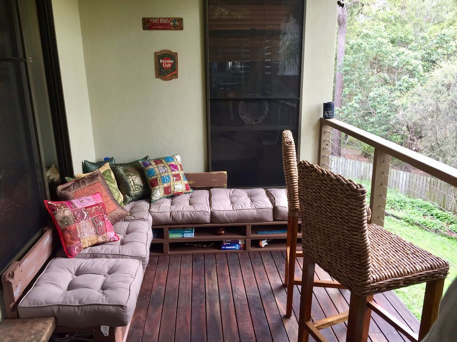 Enjoy our chilling out deck