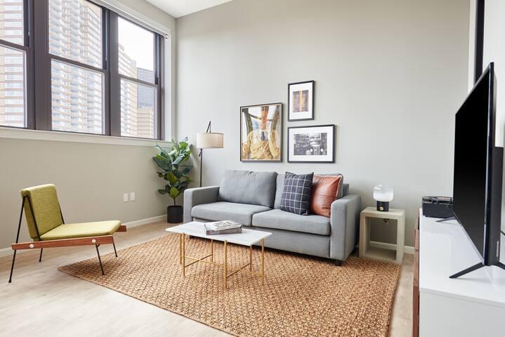 Sonder | The Randolph | Airy 1BR + Sleeper sofa