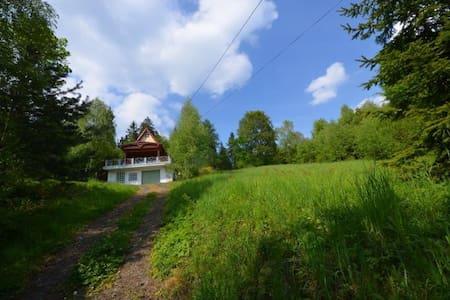 domek w górach- lasy, jezioro, szlaki, skałki - Łysina - Hytte (i sveitsisk stil)