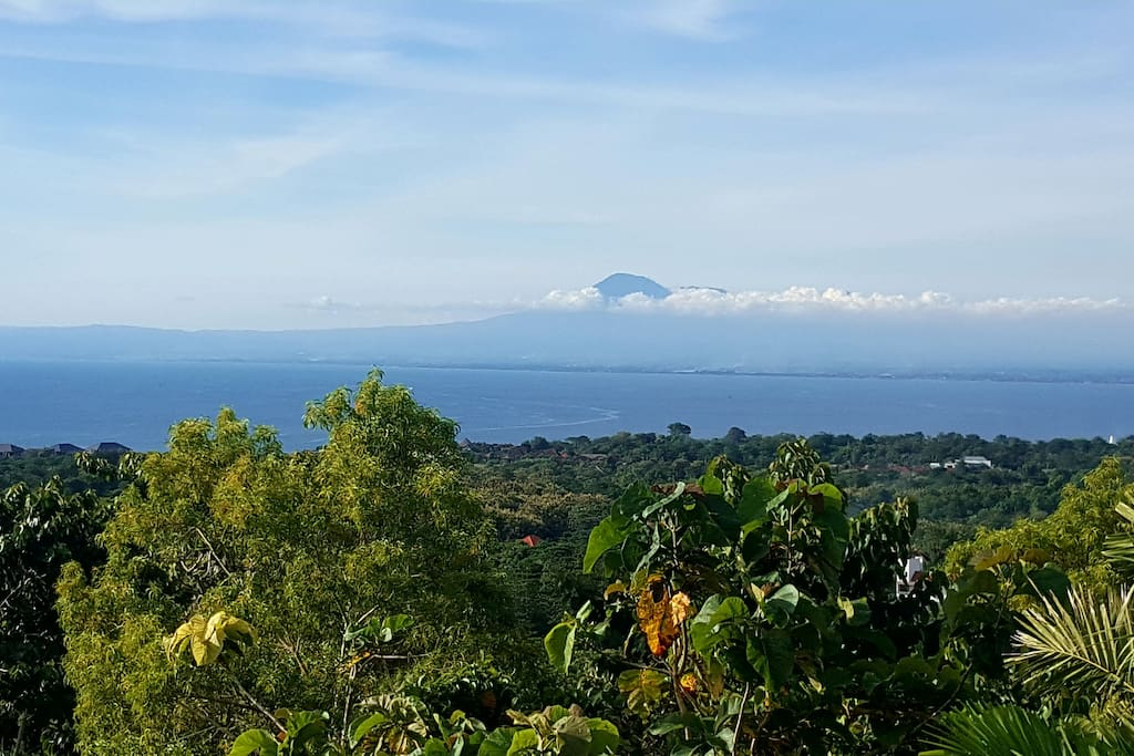 Mt Agung on a clear day from the pool deck!