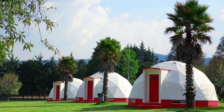 Glamping, acampar con comodidad y estilo.