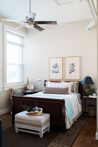 Main Floor Guest Room - comfortable queen and one twin daybed