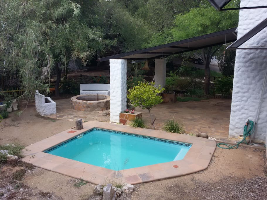 The pool in the dry season