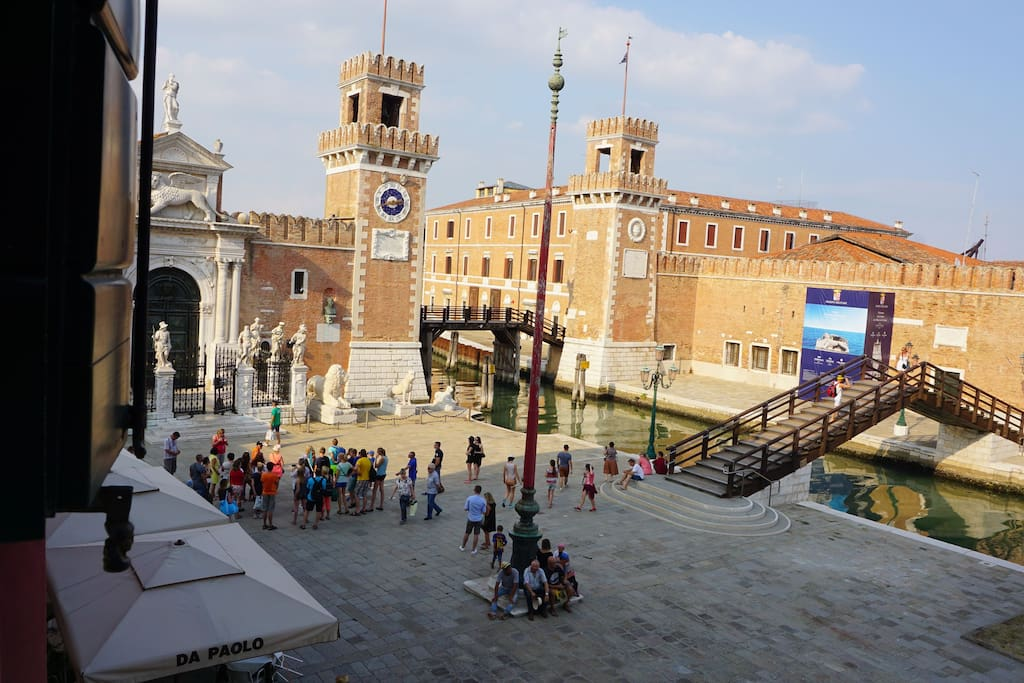 view on campo arsenale