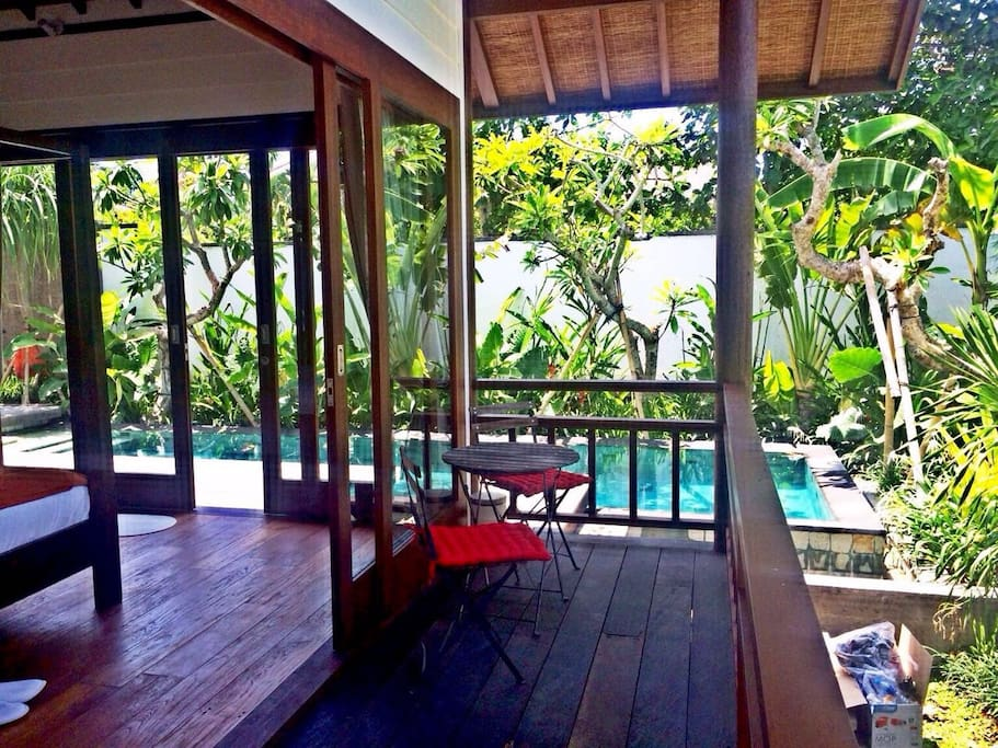 Terrace and Pool View