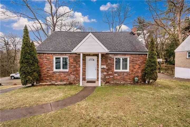 Brick House with Peaceful Backyard
