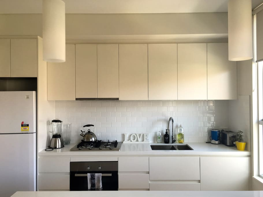 Clean kitchen with all new appliances