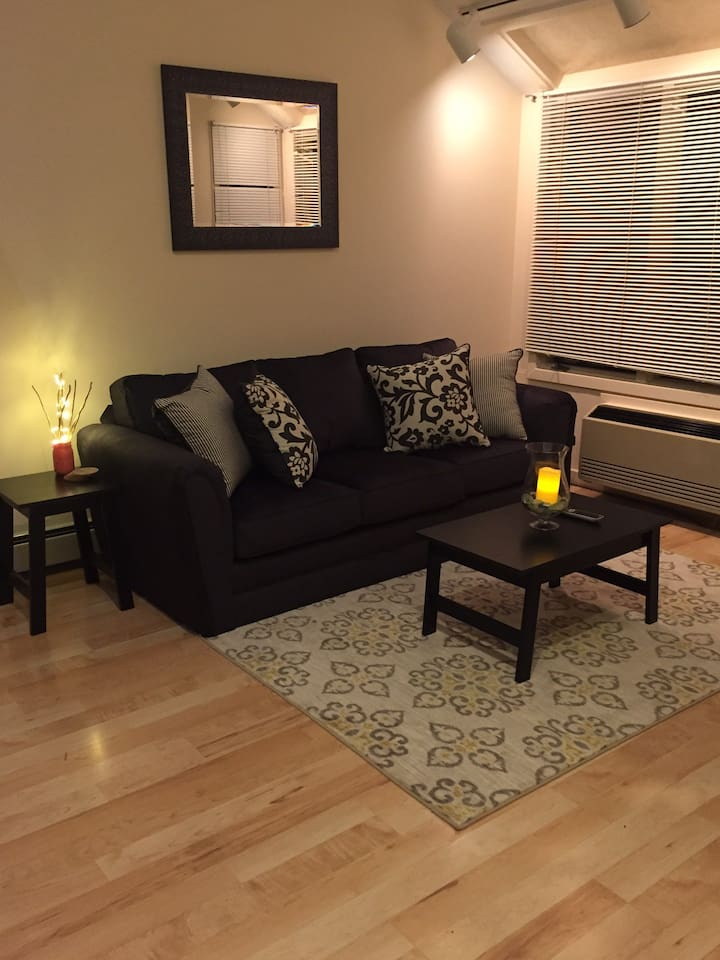 Living area, includes tv with access to Netflix
