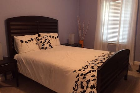 Beautiful, serene bedroom with a queen size bed. - Waxhaw - Dom