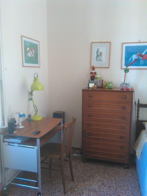 particolare camera due letti