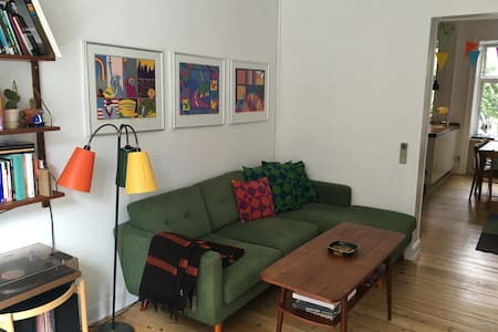 Spacious family friendly flat in trendy Vesterbro - København - Apartment