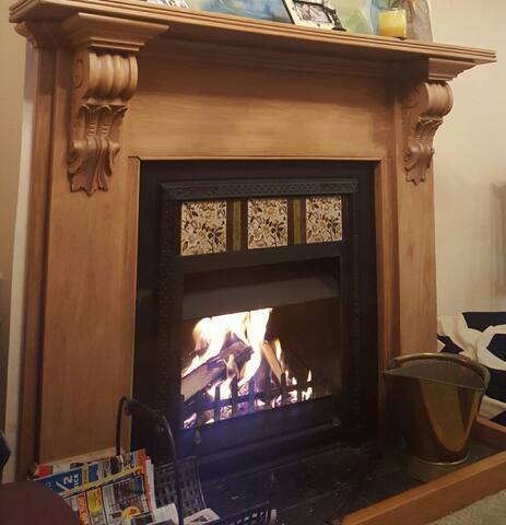 Cosy fire place in front room
