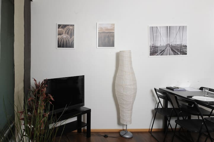 Living room and some art.