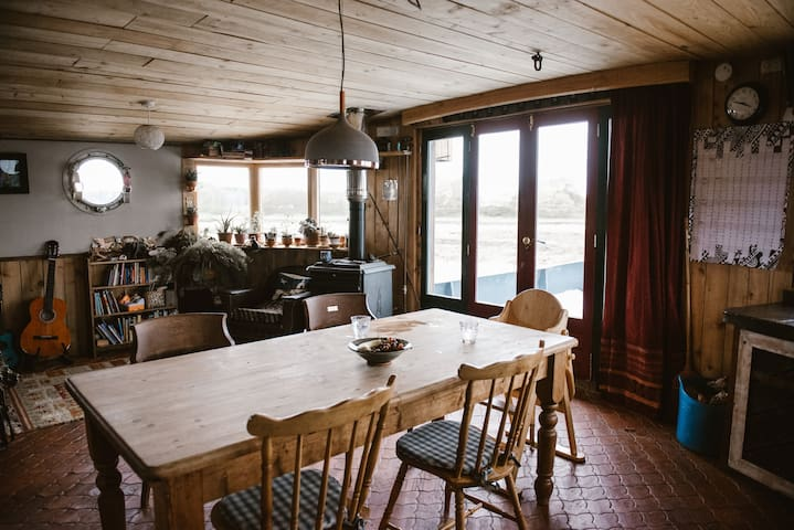 The kitchen/diner with views over the estuary