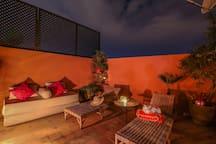 coin lounge sur la terrasse