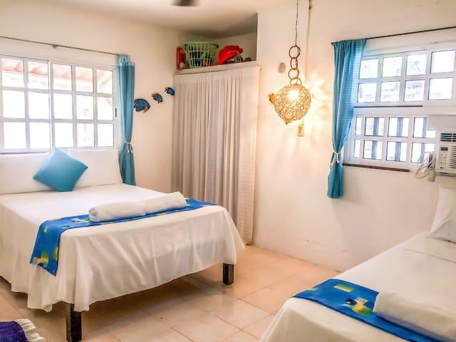 Bedroom 2 - 2 double beds