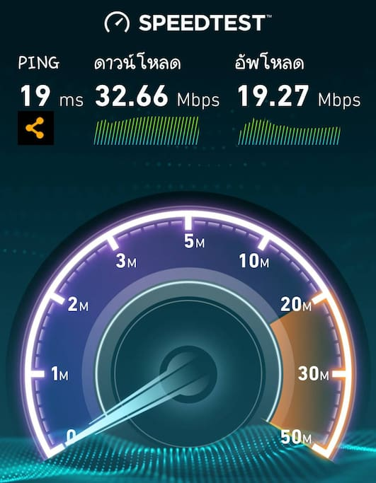 High Speed Wifi ready to upload & download.