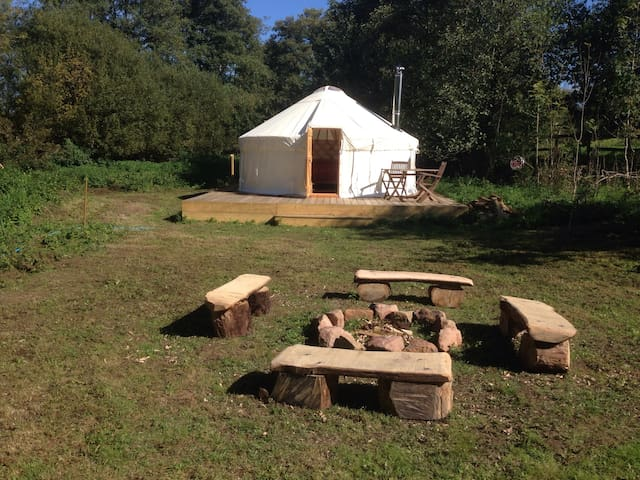 Luxury Yurt in Sussex Countryside