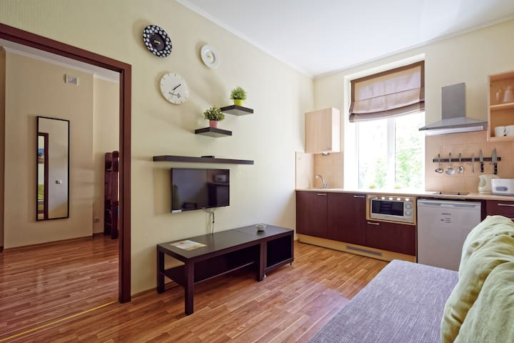 1 bedroom Family apartment in the center of Riga