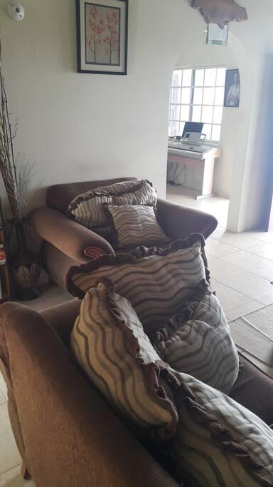 Nice comfortable sofa.