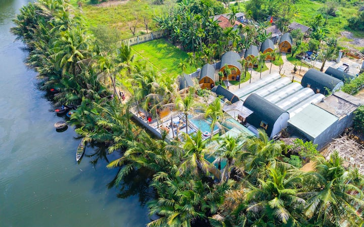 ❀Private Douple Pool & River Bungalow, Pure Air❀