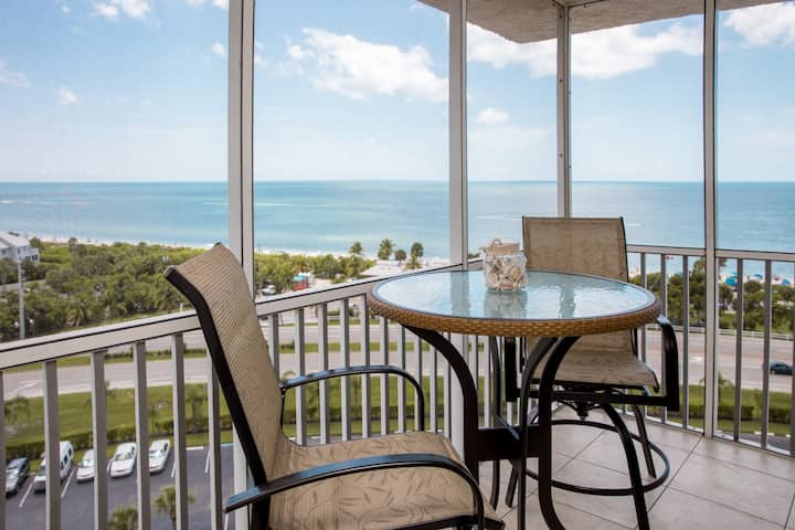 Top floor condo with beach and water views