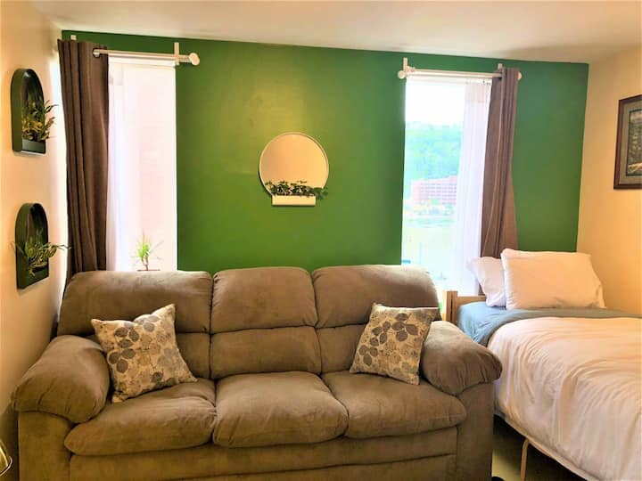 Downtown Apt | Walk to all stadiums + Conv. Center