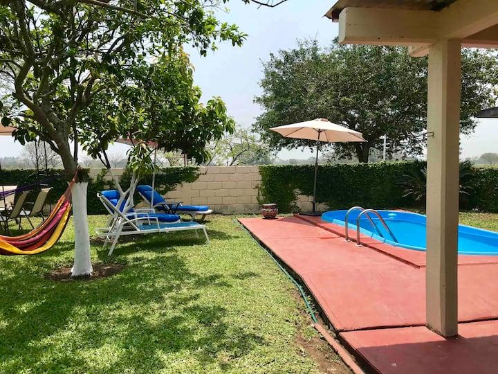 Casa de Descanso con Alberca Costa Esmeralda, Ver.