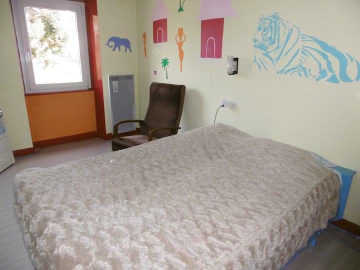 Chambre Savane en Alsace Bossue