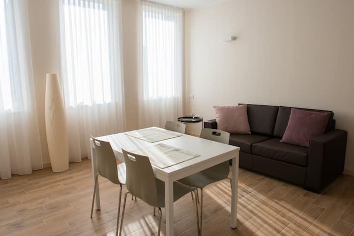 appartamento design 2 camere separate,  4 letti