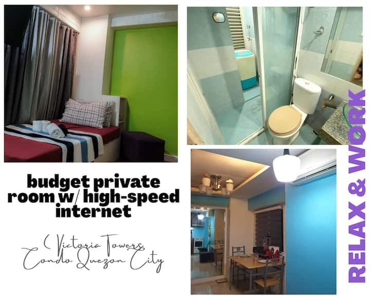 Staycation Room in Victoria Towers W/Balcony&Wifi