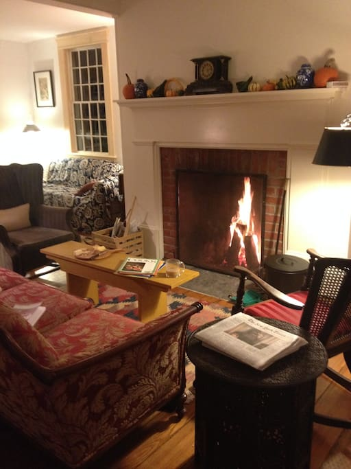 You are welcome to sit in the living room and cozy up to the fire if we have one.
