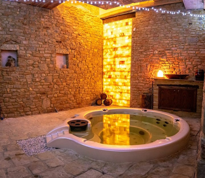 charming medieval tower , private spa and garden
