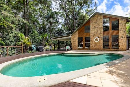 Eco home with beautiful pool.