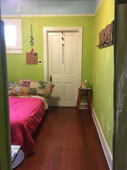 Guest room with door to front entrance closed.